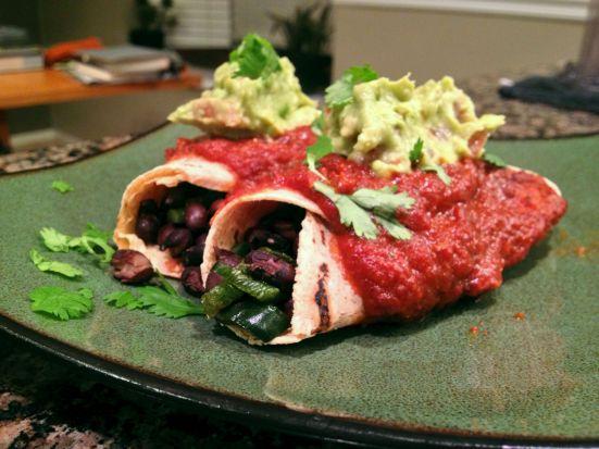 black bean vegan enchiladas 4