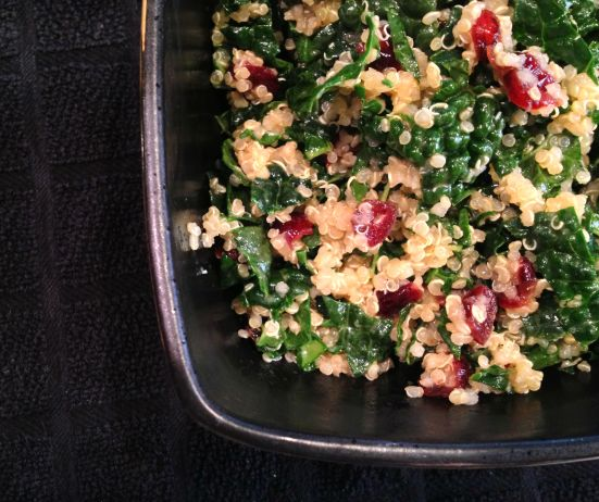 Kale with Quinoa and Cranberries 1