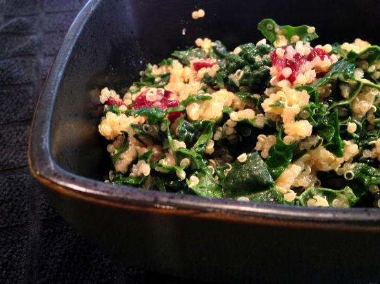 Kale with Quinoa and Cranberries 2