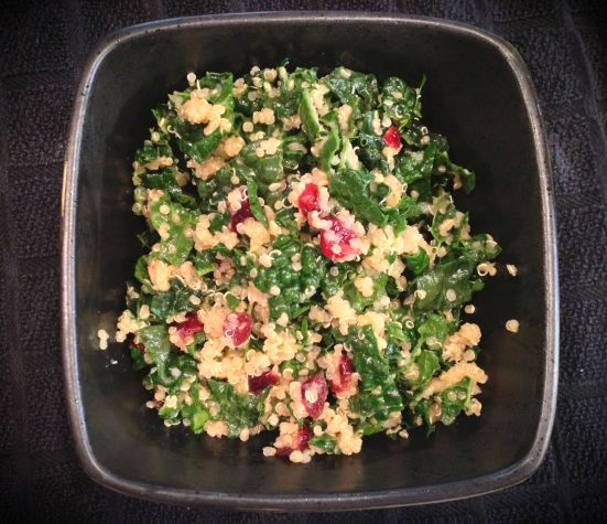 Kale with Quinoa and Cranberries