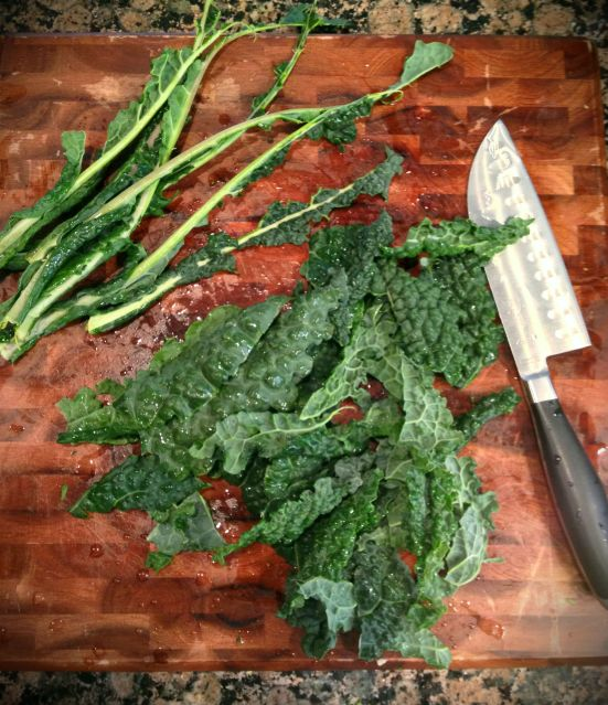 stripped kale